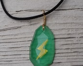 Glow in the Dark Thunderstone Necklace - Facet Finish