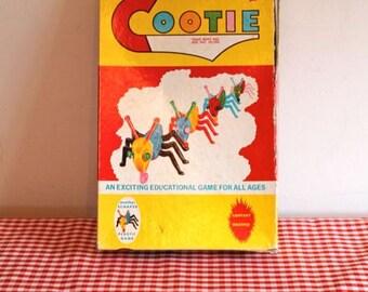vintage 1940s game - COOTIE game pieces 1949