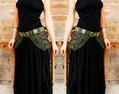 ON SALE⎜urban pixie over skirt bustle belt geen tutu - burning man festival boho fairy wrap around skirt - Ready to ship