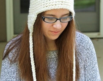 Crochet PATTERN - Crochet Earflap Hat Pattern - Crochet Patterns - Baby Crochet Pattern - Includes Baby, Toddler, Kids, Adult Sizes -PDF 134