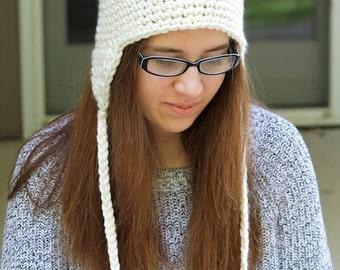Crochet PATTERN - Crochet Earflap Hat Pattern - Crochet Patterns - Baby Crochet Pattern - Includes Baby, Toddler, Kids, Adult Sizes -PDF 134