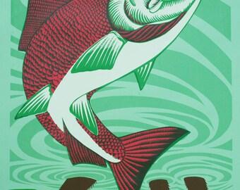 Upstream Future 19 x 26 Silkscreen Print