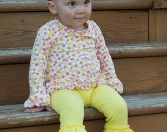 Baby Kelsey's Triple Ruffle Leggings PDF Pattern Sizes Newborn to 18/24m
