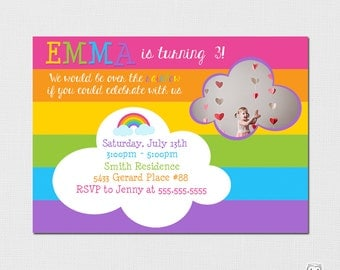 Rainbow Invitation - Rainbow Party - Printable Rainbow Invitation - Rainbow Birthday - Printable