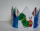 Very Hungry Caterpillar Birthday Crown - Adjustable Patchwork - OOAK - Ready-to-ship