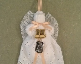 Military Series, Brave Soldier, Lace and Yarn Angel Ornament