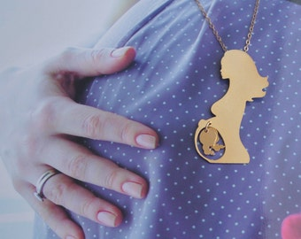 Twins Necklace , Mom of Twins Gold Jewelry , Twins Pregnancy , Present for Expectant Mother , Twins Pregnancy Announcement , Twins Jewelry
