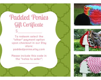 Padded Ponies Gift Certificate/Gift Card