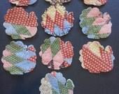 Vintage Quilt Die Cuts for Applique, Turkeys, Fall Quilts, Antique Quilt