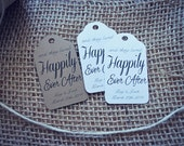 Happily Ever After Wedding Favour Tag Favor Enagement Party Bridal Shower Cinderella Fairy Tale Wedding with Custom Colour Options
