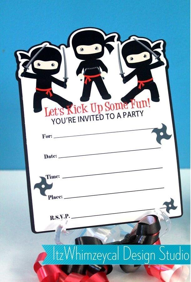 Ninja Birthday Party Ninja Party Fill In The Blank