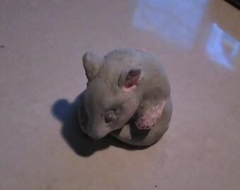 netsuke,Mouse, sleeping baby...Notsuke...copy of an antique...so not-netsuke...hahaha Micha Graytail