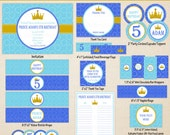 Little Prince Printables - Prince Birthday - Printable Party Set - Prince Party Kit - DIY Royal Prince Birthday Printables