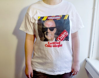1987 Max Headroom Coke shirt - Vintage 80s TV Show Coca Cola Tshirt L