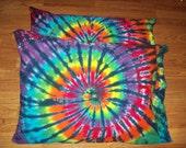 2 Tie Dye Pillow Cases- Set of 2-  tie dye pillowcases, tie dye bedding, Rainbow Tiger