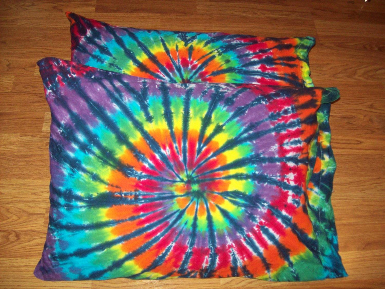 2 Tie Dye Pillow Cases Set Of 2 Tie Dye Pillowcases Tie
