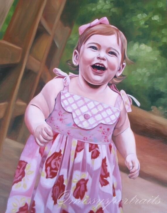 CUSTOM PORTRAIT - Personalized Art - Oil Painting - Best Gift Idea - 11x14
