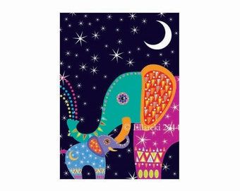Elephants greetings card