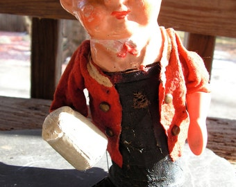 40s Rolly Toy Beer Drinking Celluloid Mechanical Doll West Germany