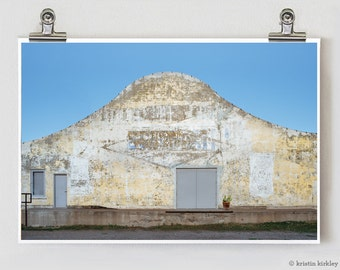 Modern Architectural Marfa Warehouse Cacti Fine Art Photography