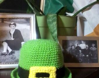 Adult Size Irish Leprechaun Bowler style Hat - St. Patrick's Day