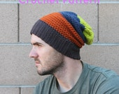 CROCHET PATTERN - Slouchy Beanie (Teenager/Adult Medium, Adult Large, Adult X-Large) - Sell What You Make