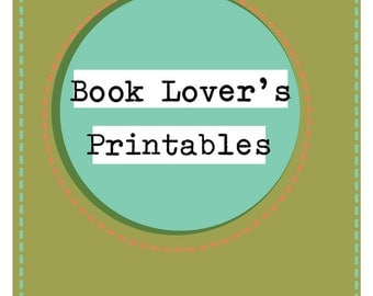 Book Lover's Printable Organization Kit (Bookmarks, Stickers, Bookplates, List, Labels)