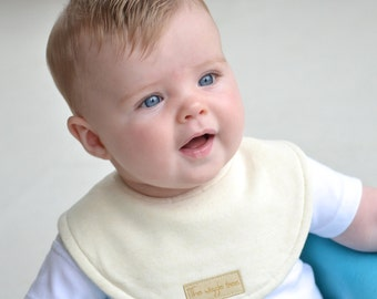 PRE-ORDER: Bamboo Dribble Bib 3 PACK - Bamboo Jersey Super absorbent 3 layer Organic Bamboo.