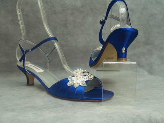 Royal Blue Wedding Heels: Brides Something BLUE Wedding Shoes 1 3/4'' Heel By NewBrideCo