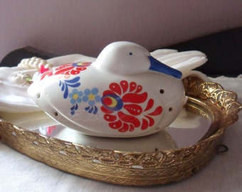 Duck Pomander, Folk Style Duck Sachet Holder, Closet & Drawer Sachet