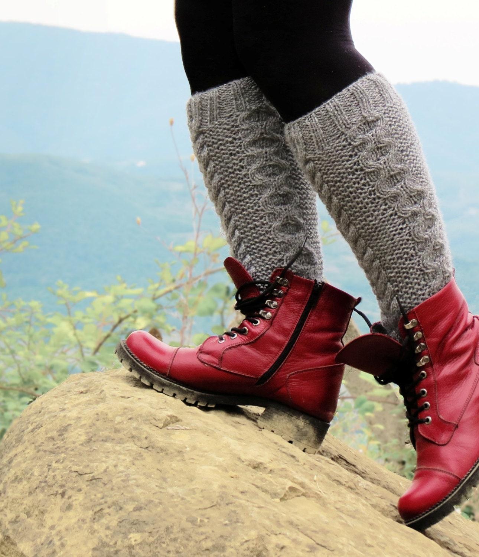 cable knit boot cuff knit leg warmers knee high sock fall