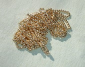 Vintage Gold Acrylic Round Beads - 4mm