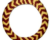 Steering Wheel Cover Maroon and Gold Chevron-Team Wheel Cover-Car Accessory-Football Car Decor-Steer Wheel Cover-Stocking Stuffer