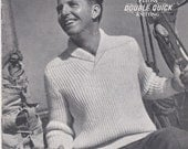 Patons Knitting for Family  Vintage Knitting  Book No 394 -  Vintage 1940s Original Pattern