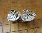 Vintage Matching Gruen N225R Watch Movement Cufflinks. Great for Fathers Day, Anniversary, Groomsmen or Just Because #691