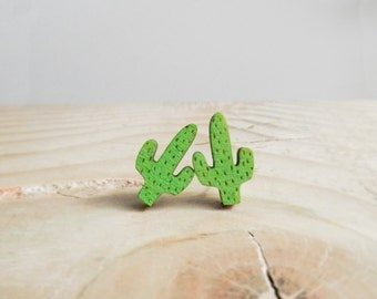 Cactus Earrings - 'Saguaro'