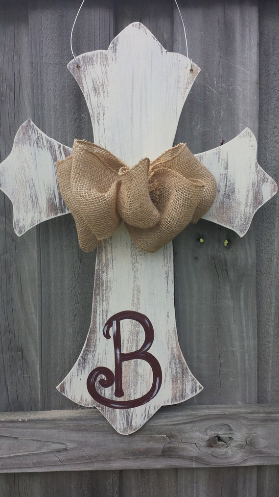 Items Similar To Distressed Chalk Painted Cross With