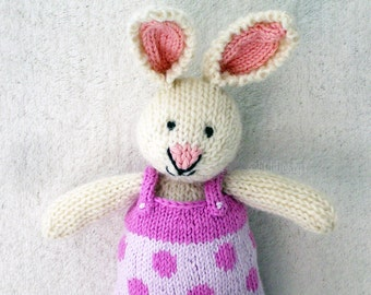Easter Bunny - Waldorf Toy - Hand Knitted Toy - Stuffed Animal - Knit Rabbit - Hand Knit Toy - Knit Stuffed Animal - Free Shipping - CAMILLE