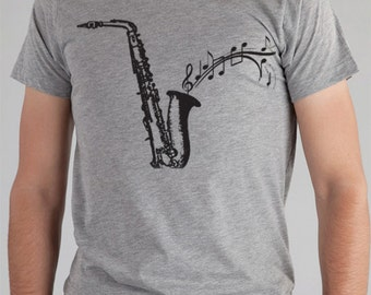 SAXAPHONE T Shirt, Gift for the Artist, Musician Lover Clothing, Available: S M L Xl