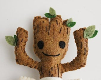 Guardians of the Galaxy Inspired Felt Dancing Baby Groot Plush Toy