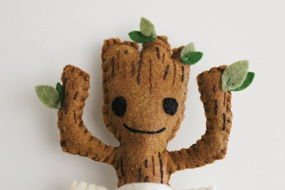 Guardians Of The Galaxy Inspired Felt Dancing Baby Groot Plush