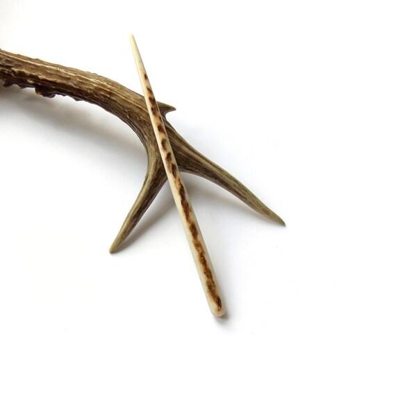 Hair stick deer antler bone carving pin shawl