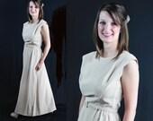 60s L'Aiglon Dress, Mad Men, Mid Century Fashion, Vintage Wedding, Prom, Beige