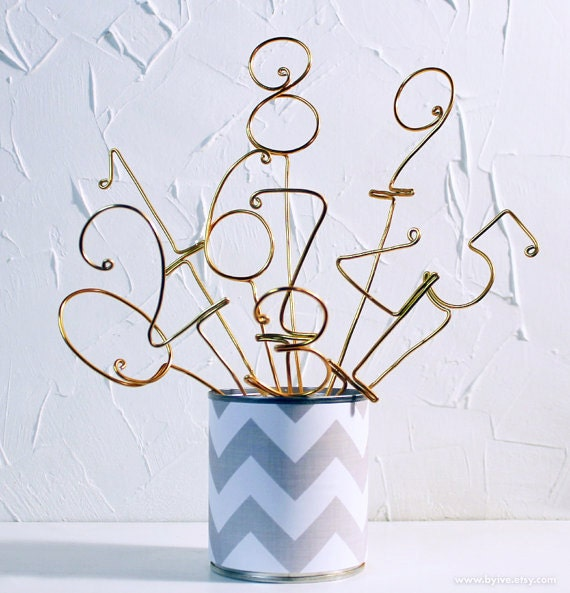 Unique Table Numbers For Wedding Reception Ideas: Unique Wire Table Number Stick. Perfect Whimsical And By Byive