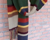 Doctor Who Scarf Fourth Doctor Tom Baker Season 13 10ft. - Sale- Ready To Ship Free US Shipping