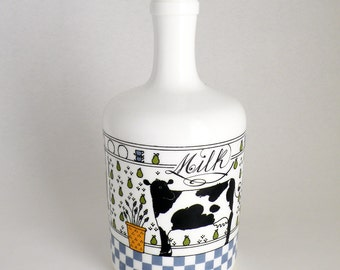 Large Milk Glass Jug from Lillian Vernon 80s Country Decor
