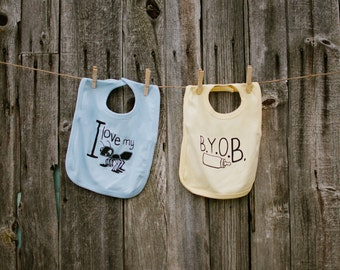 B.Y.O.B Bib Baby Boy or Baby Girl - Bring Your Own Bottle - shower gift