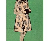 Retro Mod Mail Order Sewing Pattern 1960s Tent Style Go-Go Mini Dress A-line Loose Fit Bust 33