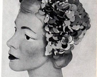 1960s Bangle Hats Pattern Booklet Ladies Retro Cap Headband Pill Box Pagoda Beret Knitting Crochet Instructions