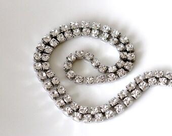 faux diamond choker   swarovski crystal necklace   fake diamond cocktail necklace   faux diamond tennis necklace   handmade   girlthree